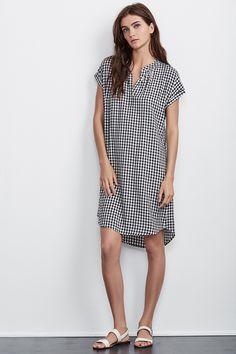 SHELLEY GINGHAM SHIRT DRESS, Velvet by Graham and Spencer. https://velvet-tees.com/women/the-latest/new-arrivals/shelley-gingham-shirt-dress.html