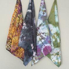 New additions! Shibori tie dye bandanas! Only $8.00!