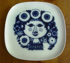 Bjorn Wiinblad plate - we have stacks of his work - love it - total whimsy