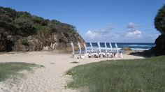 Australia Beach Wedding Wedding Flags, Australia Beach, Outdoor Weddings, Wedding Vendors, Dolores Park, Sky, Water, Travel, Decor