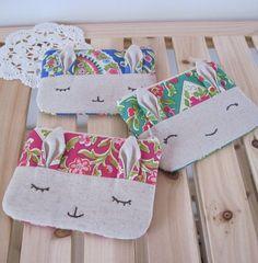 bunny zip pouch