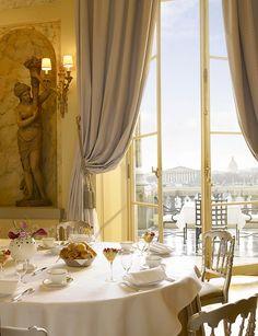 na-nashi:  Marie Antoinette Reception Room with exceptional terrace overlooking Place de la Concorde at the Hôtel de Crillon Paris, France by Concorde Hotels Resorts on Flickr.