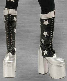 Paul Stanley, Kiss Costume, Cosplay Costumes, Kiss Boots, Halloween Kiss, Kiss Band, Hot Band, Star Children, Costume Patterns