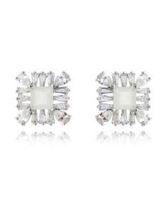 comprar brinco para festa com zirconias cristais e brancas semi joias de luxo