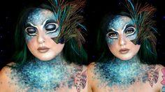 Avant Garde Peacock Lady Halloween Makeup Tutorial | Jordan Hanz