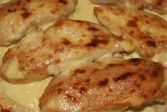 Breast of chicken Zarechnaya in kefir Yogurt Recipes, Baby Food Recipes, Chicken Recipes, Cooking Recipes, Good Food, Yummy Food, Baked Chicken Breast, Russian Recipes, Kefir