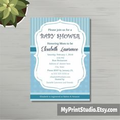 Baby Shower Invitations For Word Templates Prepossessing Baby Shower Invitation Template Baby Boy Owl Mobile  Baby Shower .