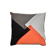Arigato & Obligado Creations is an online store of home furnishings products. Decorative Four Triangle Patch Cushion Cover