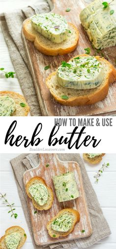 How to Make and Use Herb Butter. Herb butters are so easy to make and add loads … How to Make and Use Herb Butter. Herb butters are so easy to make and add loads of flavor to any dish. 8 recipes for different herb butters and a free printable Cheat Sheet! Breakfast For A Crowd, Food For A Crowd, Breakfast Recipes, Quick Easy Meals, Easy Dinner Recipes, Great Recipes, Gluten Free Peanut Butter, Grilling Recipes, Herb Recipes