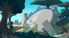 Part 1 of a selection of Backgrounds from the Steven Universe episode: Friend Ship Art Direction: Jasmin Lai Design: Steven Sugar, Emily Walus, and Sam Bosma Paint: Amanda Winterstein and Ricky Cometa. Steven Universe Background, Steven Universe Wallpaper, Episode Backgrounds, Ship Art, Art Studies, Art Google, Decoration, Cosmos, Game Art