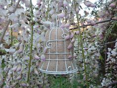 2 Wedding Bells, Bird Nesters, Garden Wedding Decor, Wedding Decor, Gift for the Bride, White Wedding, Wedding Decorations, Eco Wedding by FoxHillLlamas on Etsy