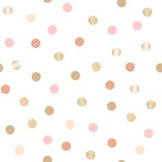 Seamless pattern with glitter gold polka dots Premium Vector