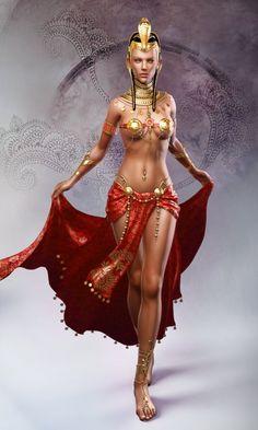 Fantasy Women Art | Women In Egyptian Art | Celebrity Inspired Style, Hair, and Beauty