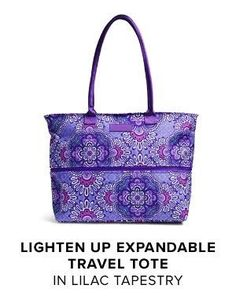 886cdef95c Vera Bradley Lighten Up Expandable Travel Tote in Lilac Tapestry. Available  now for Fall 2016