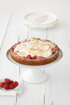 rhubarb & raspberry rind tart with meringue