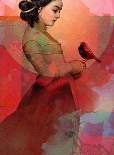 Titre de l'image : Catrin Welz-Stein - Lady in Red
