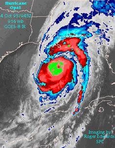 Hurricane Opal in the Gulf of Mexico in 1995