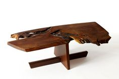 Available for sale from 1950, George Nakashima, Coffee Table (1981), Walnut, 13 × 42 × 21 1/4 in