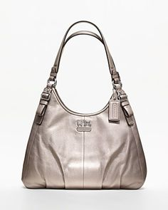COACH Madison Metallic Leather Maggie | Bloomingdale's