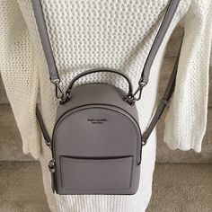 kate spade mini convertible backpack gra on Mercari kate spade mini convertible backpack taupe gray crossbody PRICE IS FIRM ❤️ thank you Brand new with tag Cute Mini Backpacks, Little Backpacks, Stylish Backpacks, Kate Spade Backpack, Backpack Purse, Leather Backpack, Convertible Backpack, Girls Bags, Fashion Handbags