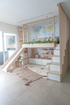 Brinquedoteca do Dudu Diy Room Decor, Home Decor, Tiny House, Sweet Home, Interior Design, Bed, Furniture, Montessori, Biscuit