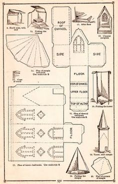 ... templates on Pinterest | Paper models, Paper houses and Putz houses