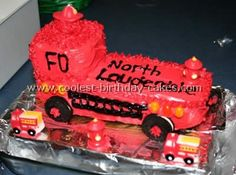 Fire Truck Cake  nice cake bit the north lauderdale caught my eye