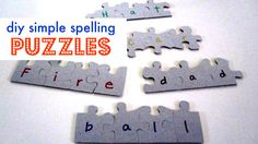 Use the back of unwanted or thrifted puzzles to practice spelling.