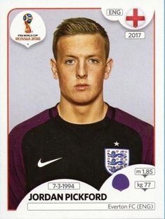 Panini Stickers Panini Football Sticker Albums FIFA World Cup Russia 2018 sticker Jordan Pickford - England, FIFA World Cup Russia 2018 2018 ref. England Players, England Fans, World Cup 2017, Fifa World Cup, James Rodriguez, England World Cup 2018, Der Club, America's Cup, England