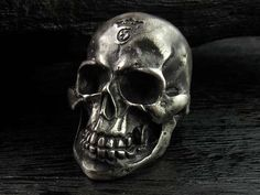 GABORATORY Large Skull Ring with Jaw G-Crown Stamp