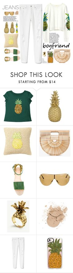 """""""boyfriend👖👖 style pineapple look🍍🍍🍍🍍"""" by licethfashion ❤ liked on Polyvore featuring Goodnight Light, Nordstrom Rack, Cult Gaia, Charlotte Olympia, Chanel, Ann Taylor, Gap, Casetify and Banana Republic"""