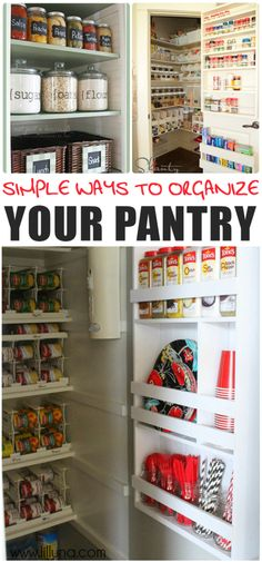 Simple Ways to Organize Your Pantry.  Good ways to keep your food and pantry neat and orderly.