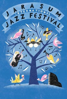 Yeji Yun : Jarasum Jazz festival poster collection on Behance