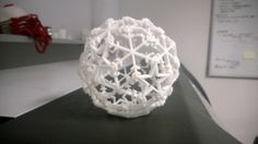 3D printed Christmas bauble