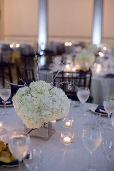 The Happy Couple Photography, Bright Occasions Real Wedding, DC Wedding at Corcoran Gallery of Art #realwedding #winterwedding #white #gray #blue wedding - flowers by B Floral Event Design