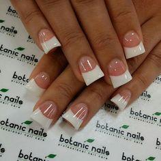 Nail Shapes - My Cool Nail Designs French Nails, French Acrylic Nails, Square Acrylic Nails, Acrylic Nail Shapes, Best Acrylic Nails, French Manicures, Get Nails, How To Do Nails, Wide Tip Nails