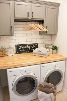 Laundry Room Office Combo Modern Farmhouse Reveal One Challenge Week 6 Remodel