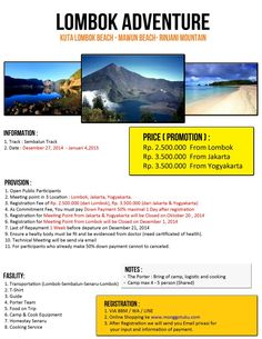 Open Trip Lombok Rinjani