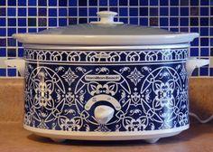 New blue crockpot