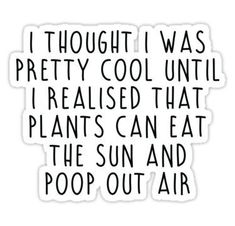Plant Science stickers featuring millions of original designs created by independent artists. Quotes Thoughts, Me Quotes, Funny Quotes, Plants Quotes, Plants Are Friends, Plant Science, Lovers Quotes, Garden Quotes, Life Inspiration