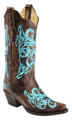 036ea90239 Corral Turquoise Dahila Embroidered Cowgirl Boots - Snip Toe available at   Sheplers Country Boots