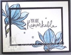 Remarkable You, Stampin'UP!, birthday card, thank you card, thinking of you card