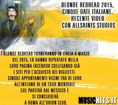 Nuove cinque date Italiane! per i +Blonde Redhead