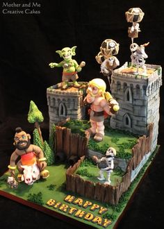 Clash of Clans cake by Mother and Me Creative Cakes
