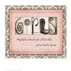 Girls-Alphabet Photo Art