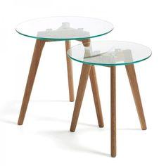 Set de 2 mesas auxiliares Kirb cristal · 98€