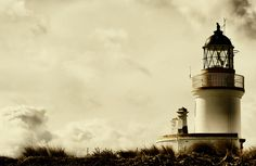 Lighthouse - Fortrose Lighthouse on the backisle in April, Scotland, Great Britain - Photo © Duncan Johnston | #Photography #Lighthouse |