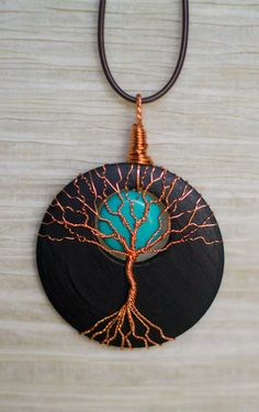 Hey, I found this really awesome Etsy listing at https://www.etsy.com/listing/183014502/tree-of-life-pendant-copper-wire-wrapped