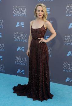 Rachel McAdams wears ELIE SAAB Haute Couture Autumn Winter 2015-16 to the 21st Annual Critics' Choice Awards in Santa Monica.