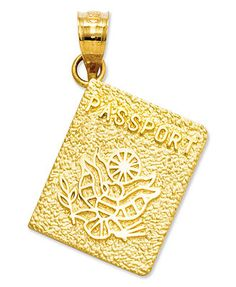 72c71de53 For world travelers and jetsetters alike, this passport charm offers a  beautiful keepsake that gleams